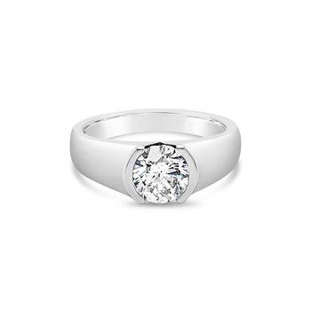 Modern Half Bezel Ring
