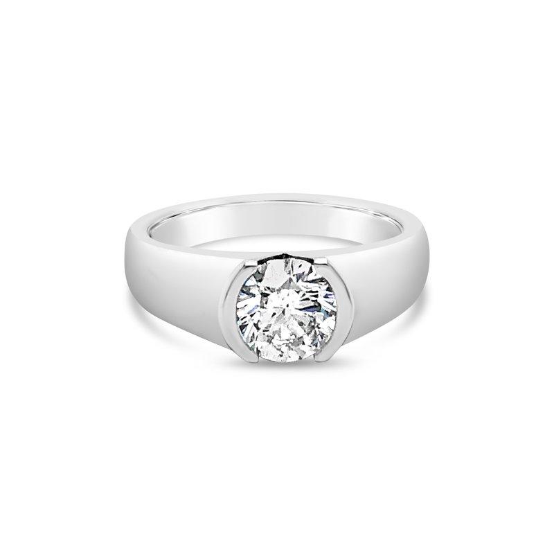 Cline Custom Modern Half Bezel Ring