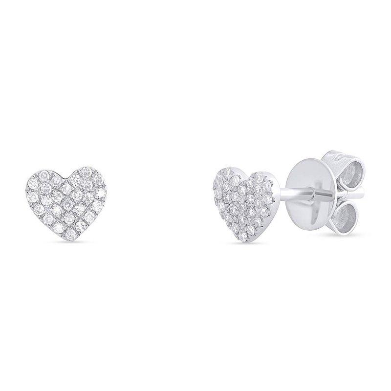 Cline Diamond Heart Earrings