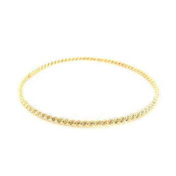 Estate 14k Yellow Gold Twist Bangle