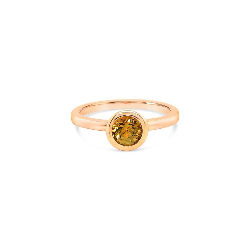 Cline Custom Yellow Sapphire Montana Sapphire Ring