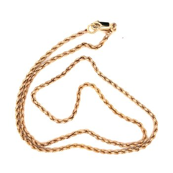 Estate 14k Yellow Rope Chain