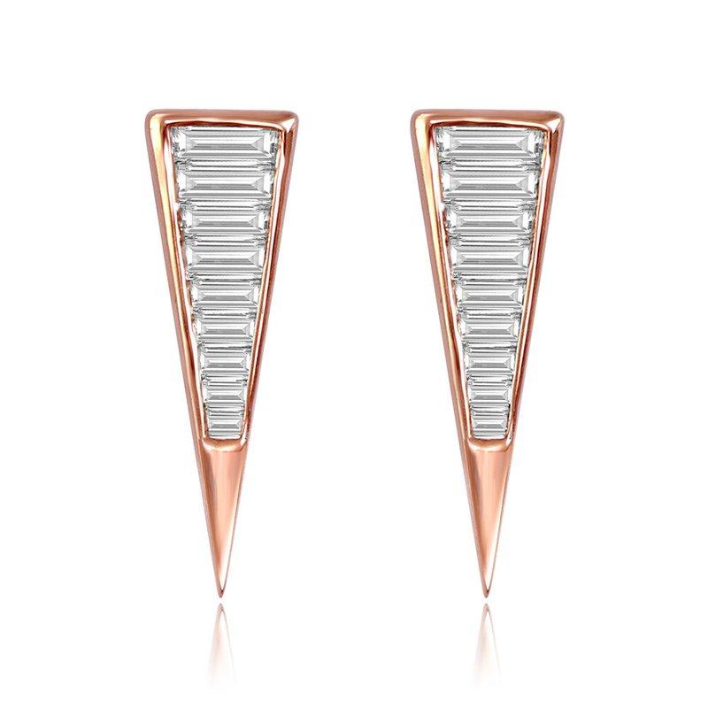 Cline Baguette Diamond Earrings