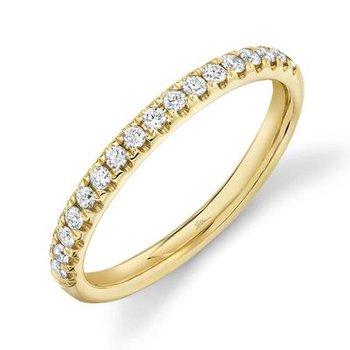 14k Yellow Gold Diamond Band (0.25ctw)