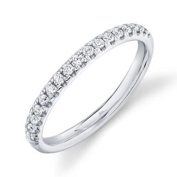 14k White Gold Diamond Band (0.25ctw)