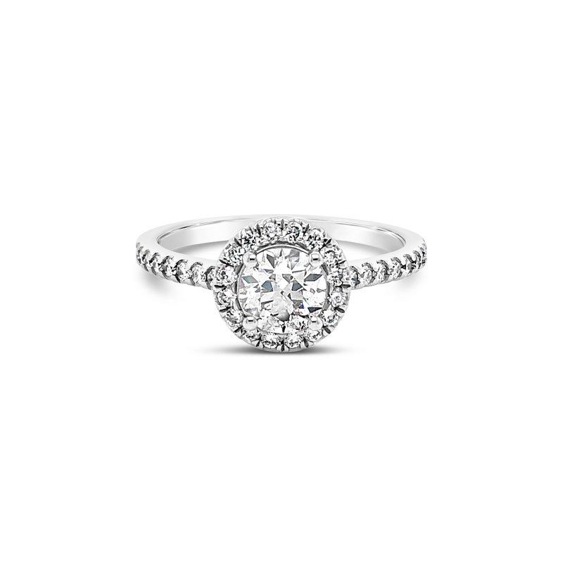 Cline Custom Round Diamond Halo Ring