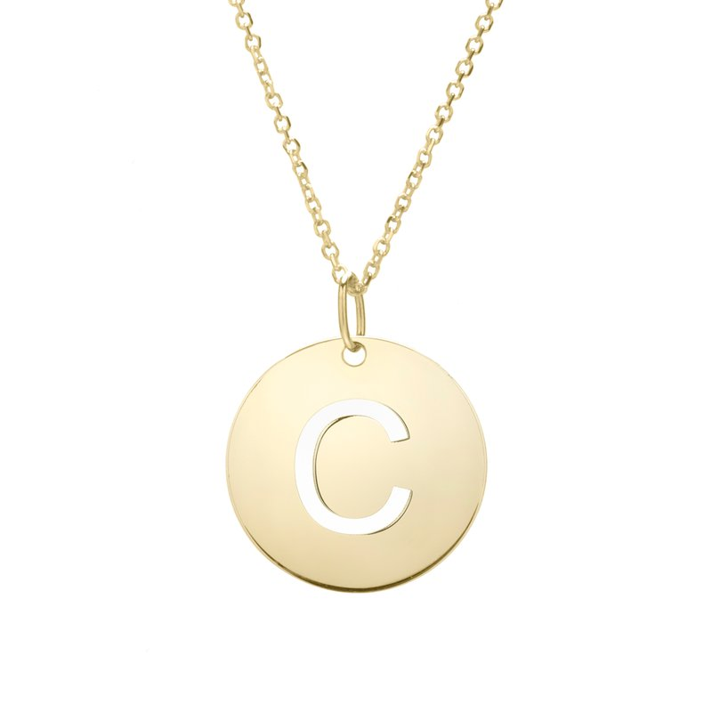 "Cline 14k Yellow Gold ""C"" Initial Necklace"