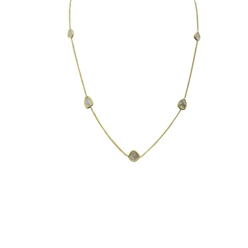 Cline Sliced Diamond Necklace