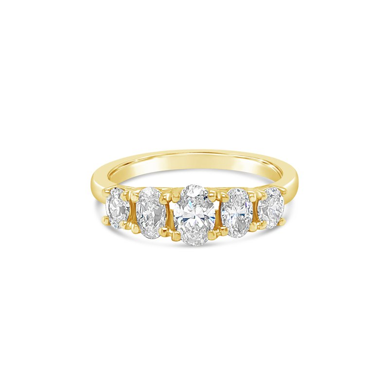 Cline Oval Diamond 5-Stone