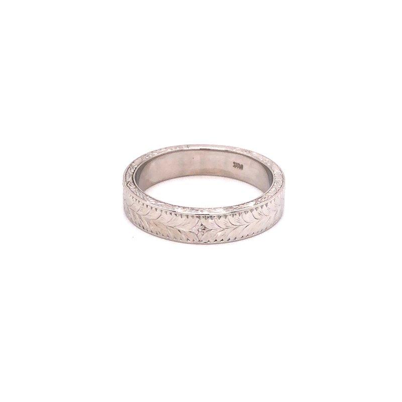 Cline Estate Engraved Ring