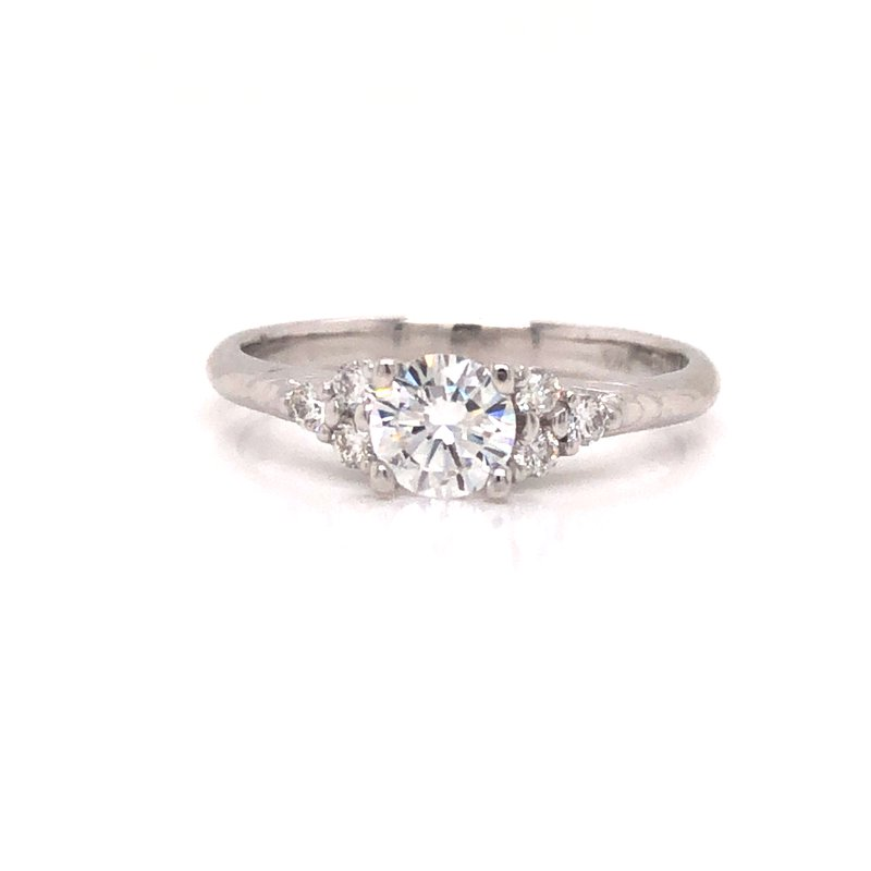 Cline Custom Illusion 3-Stone Diamond Ring