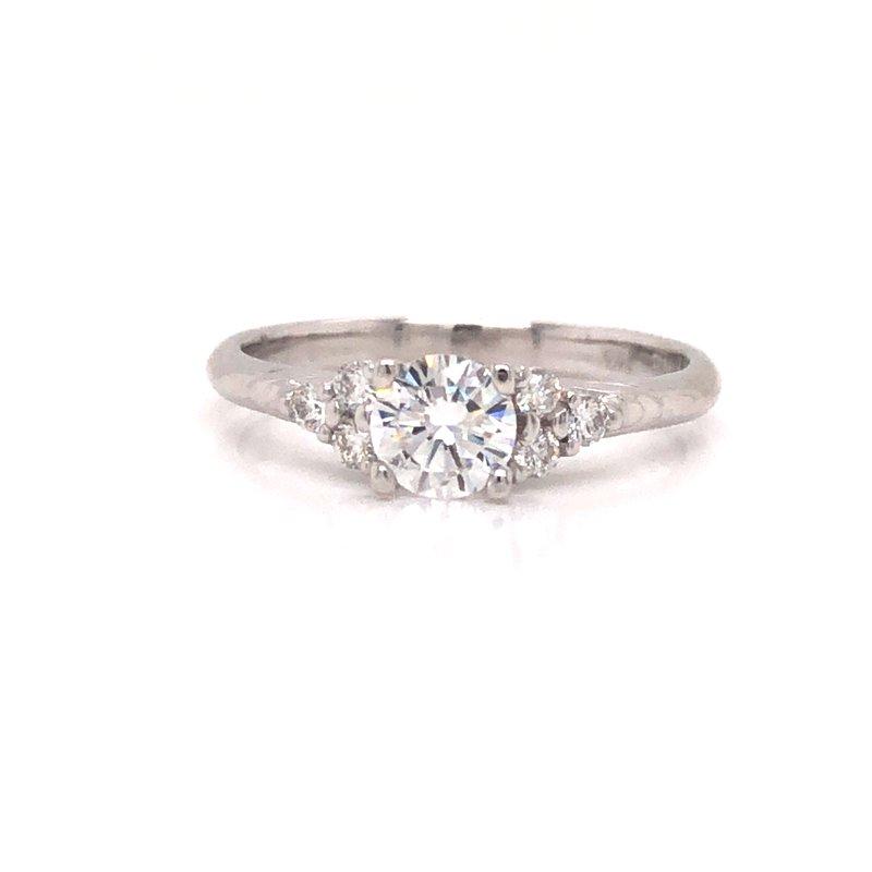 Cline Custom Illusion 3-Stone Diamond Ring