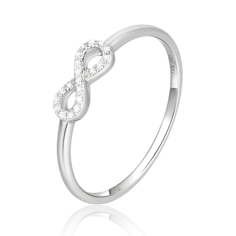 Cline 14k White Gold Diamond Infinity Ring