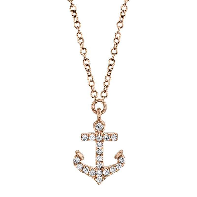 Cline Diamond Anchor Necklace