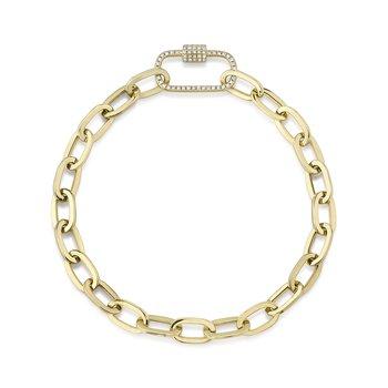 Diamond Paperclip Chain Bracelet