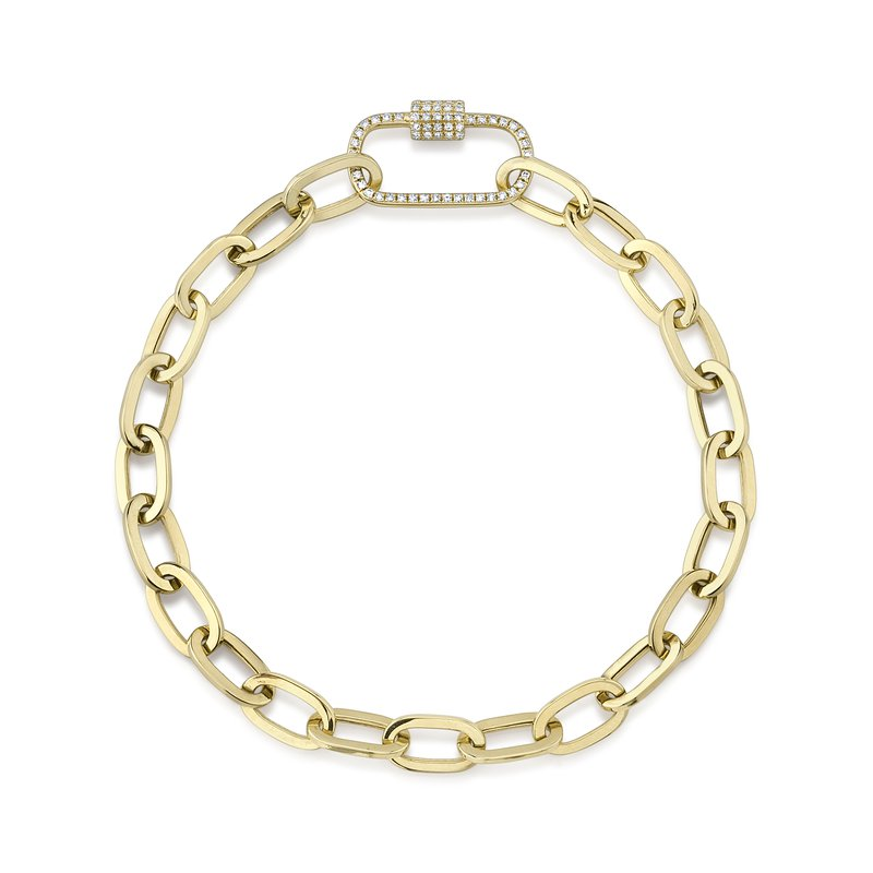Cline Diamond Paperclip Chain Bracelet