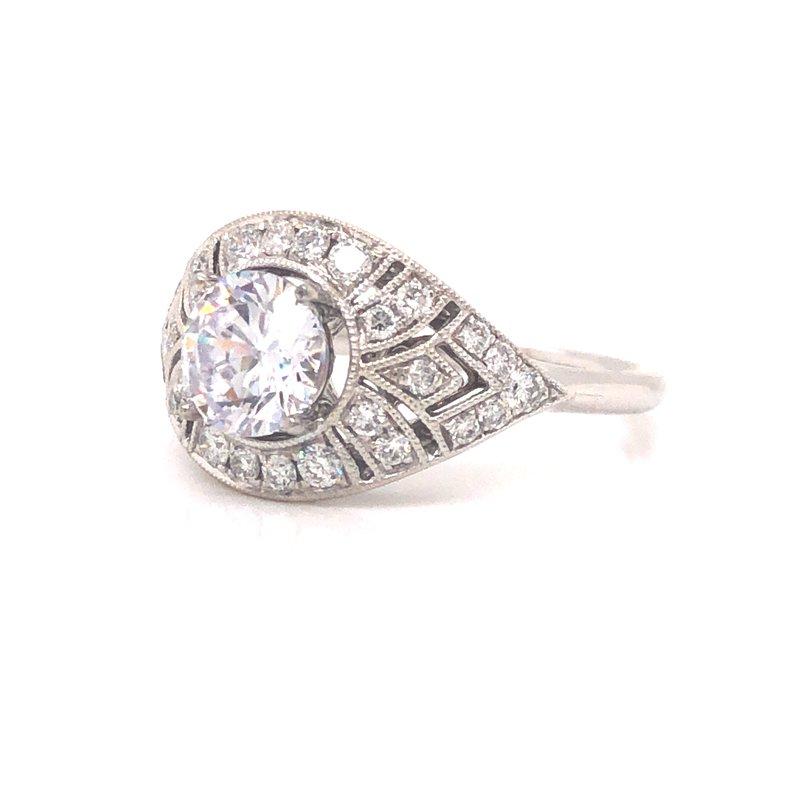 Cline Art Deco Inspired Engagement Ring