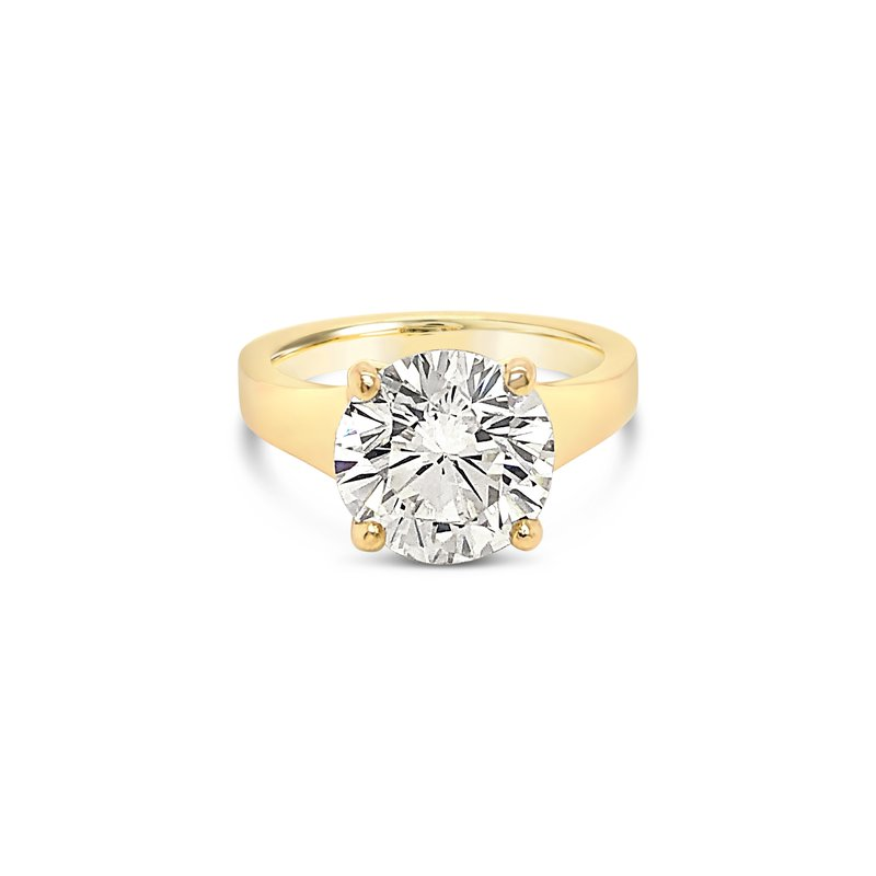 Cline Custom Tapered Diamond Solitaire