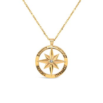 Edmonds Compass Pendant with Diamond