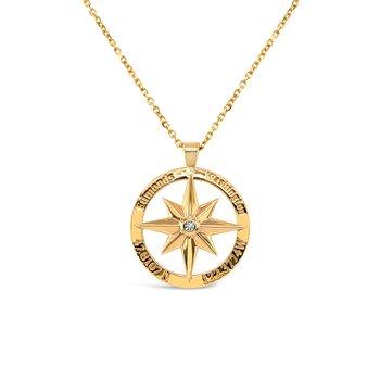 Edmonds Compass Pendant with Diamond