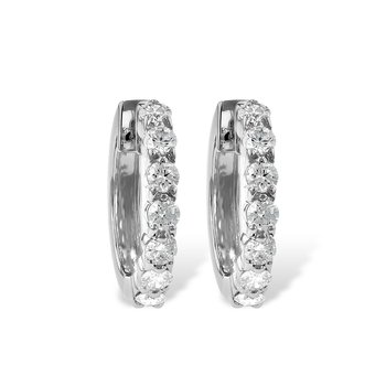 White Gold Diamond Hoop Earrings