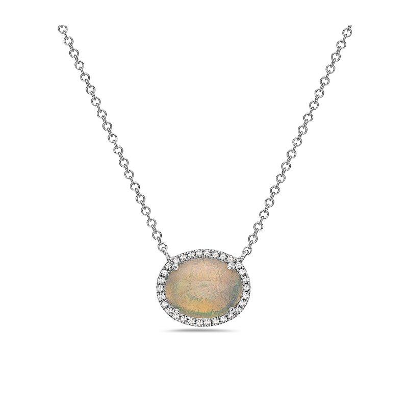Cline Opal and Diamond Pendant