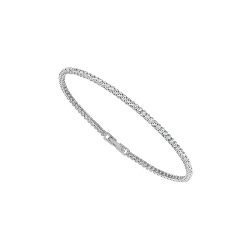 Cline 14k White Gold Diamond Tennis Bracelet