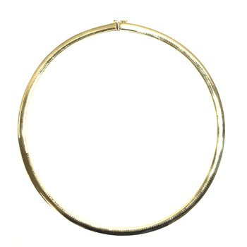 Estate 14k Yellow Gold Omega Necklace