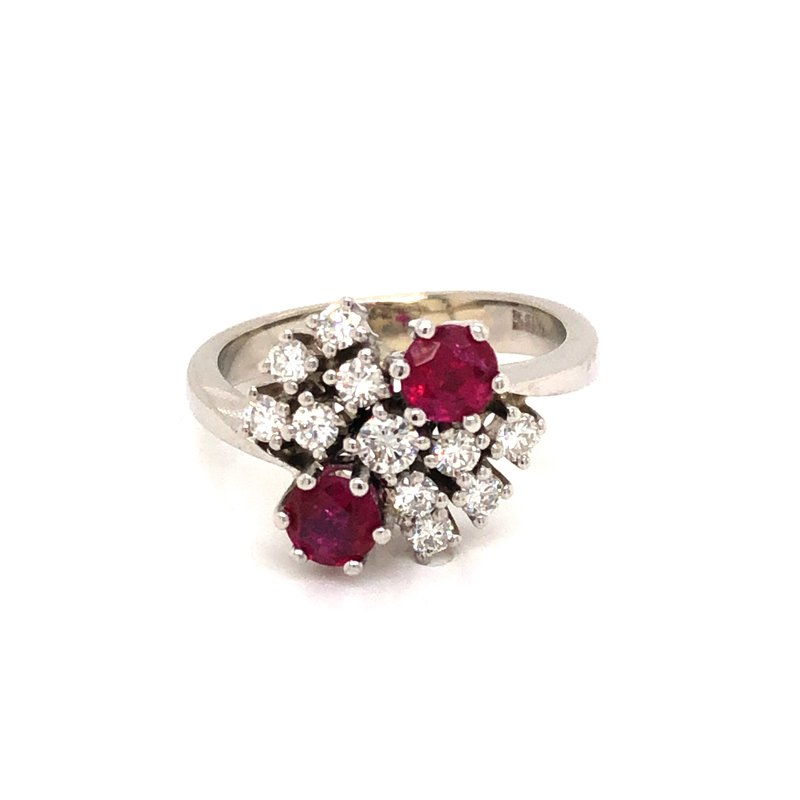 Cline Estate Ruby and Diamond Ring