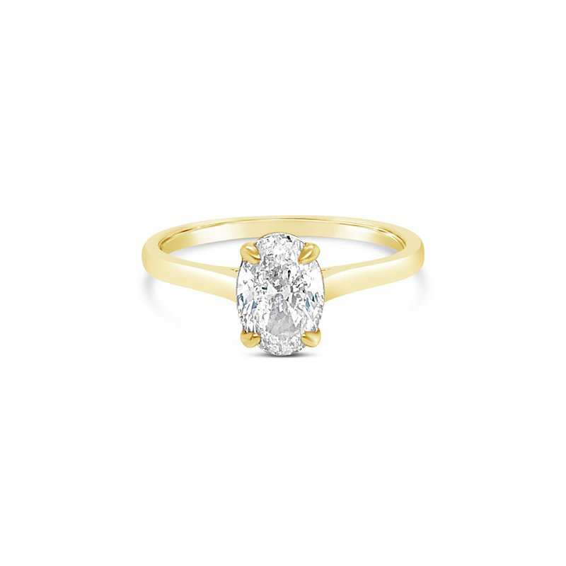 Cline Custom Oval Solitaire