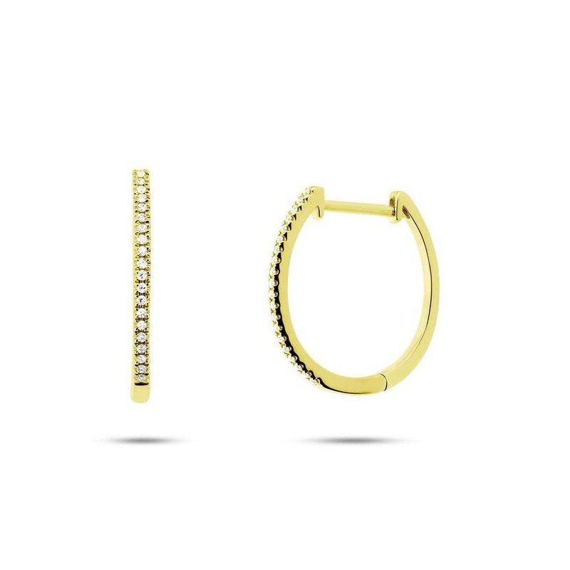 Cline Diamond Oval Hoop Earrings