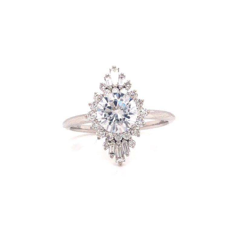 Cline Diamond Halo Engagement Ring