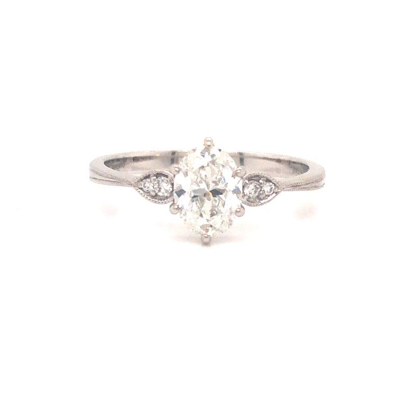 Cline Oval Cut Diamond Ring