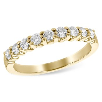 14k Yellow Gold Diamond Band (0.50ctw)