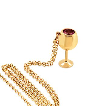Yellow Gold with Rose Wine Glass