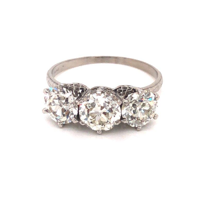 Cline Estate Old European Cut 3-Stone Ring