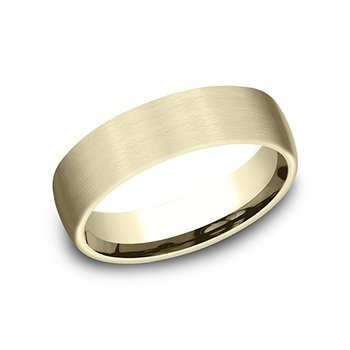 14k Yellow Gold Band with Satin Finish