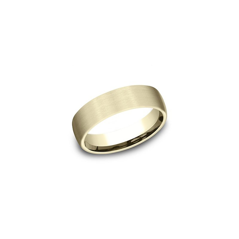 Cline 14k Yellow Gold Band with Satin Finish