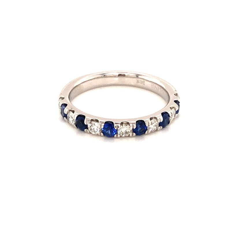 Cline Custom Sapphire and Diamond Band