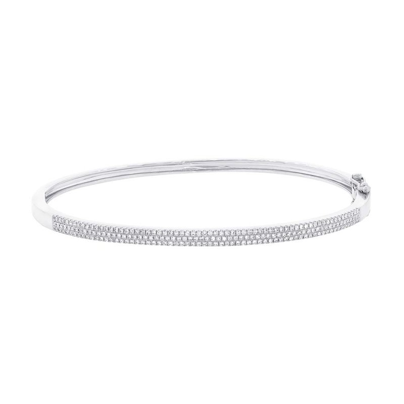 Cline 14k White Gold Diamond Bracelet