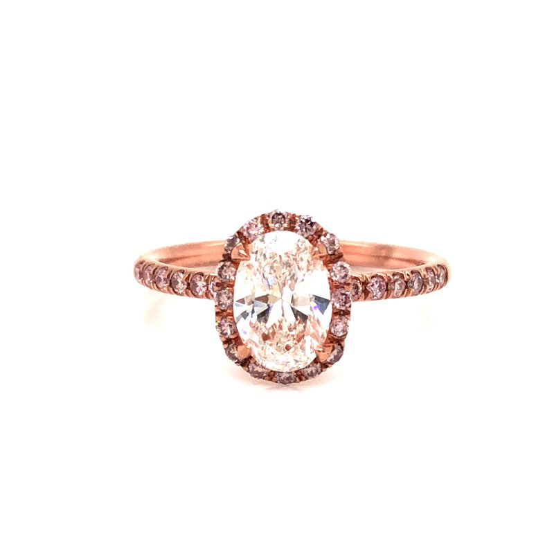Cline Oval Cut Halo Ring