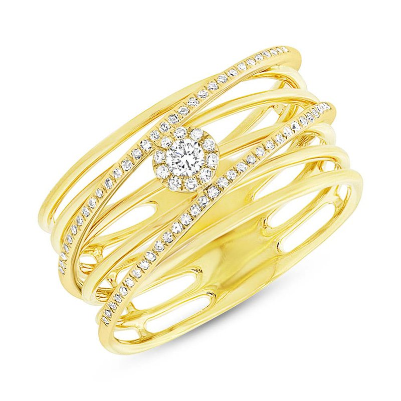 Cline Yellow Gold and Diamond Fashion Ring