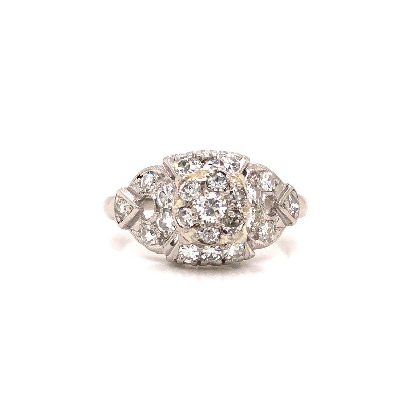 Cline Estate Platinum Diamond Ring