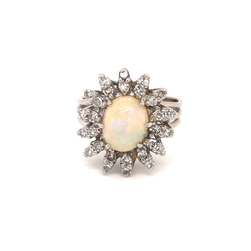 Cline Estate Opal and Diamond Ring