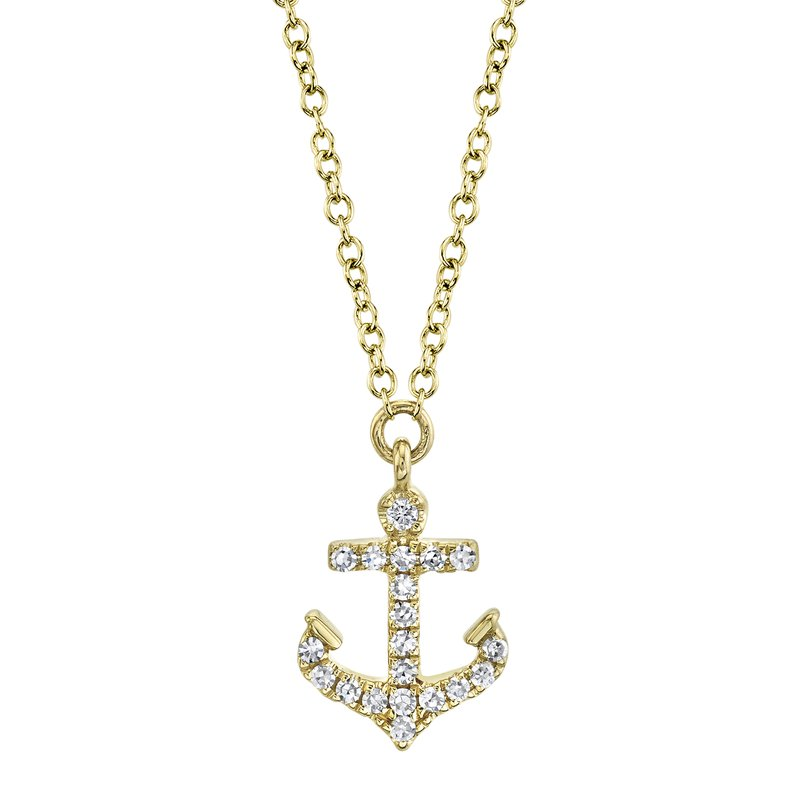 Cline Diamond Anchor Necklace