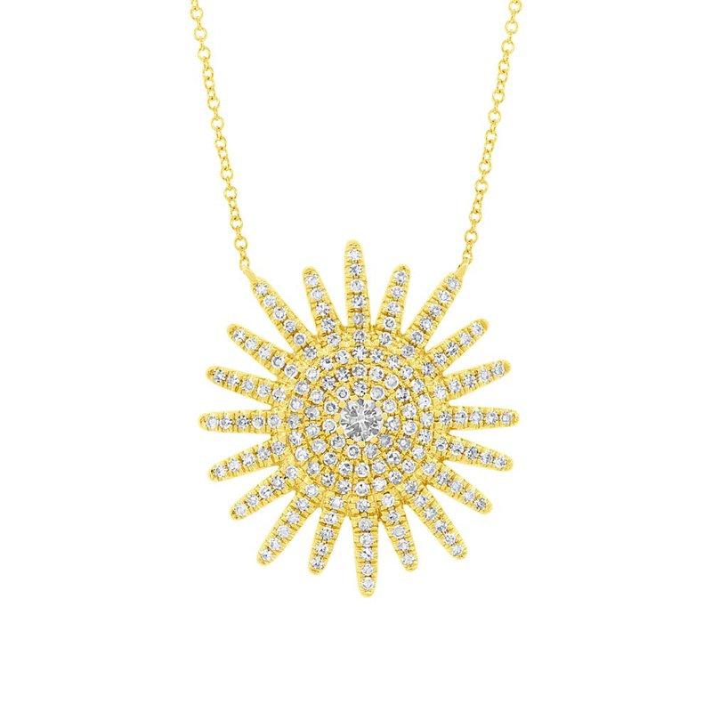 Cline Diamond Sunburst Necklace