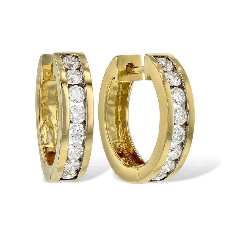 Cline Channel Set Diamond Hoop Earrings