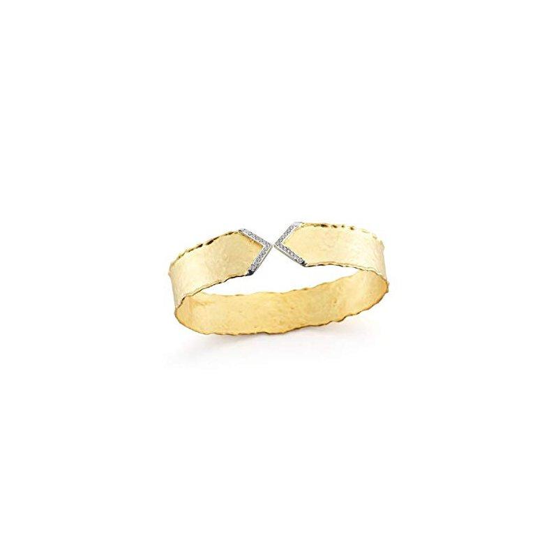 Cline 14k Yellow Gold Diamond Cuff Bracelet