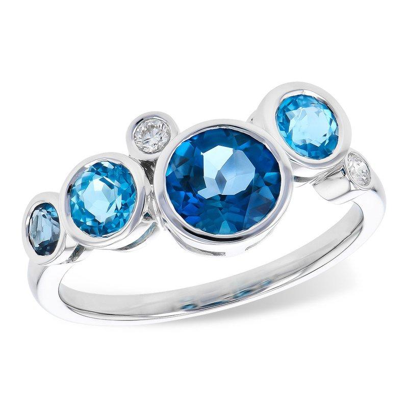 Cline Blue Topaz and Diamond Ring