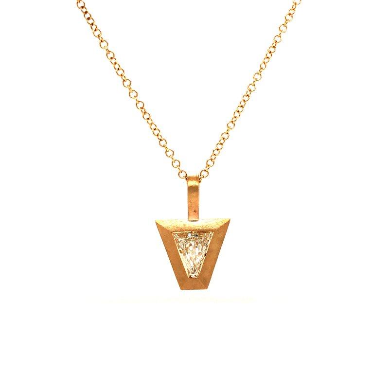 Cline Custom Kite Shaped Diamond Pendant